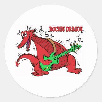 Welsh Dragon Rockin Sticker