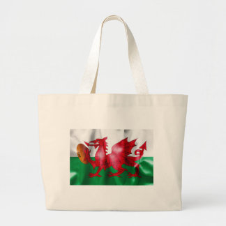 Welsh Dragon Rugby Ball Flag Large Tote Bag
