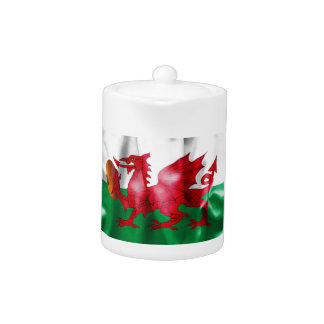 Welsh Dragon Rugby Ball Flag Teapot