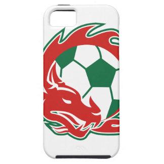 Welsh Dragon Soccer Ball iPhone SE/5/5s Case