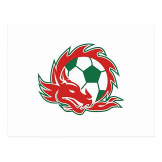 Welsh Dragon Soccer Ball Postcard