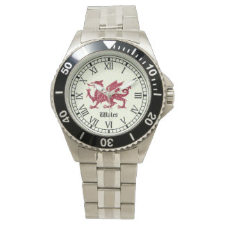 Welsh Dragon Stainless Steel Watch