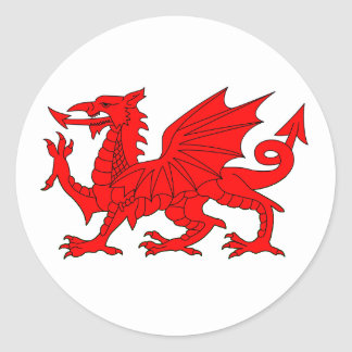 Welsh Dragon Stickers