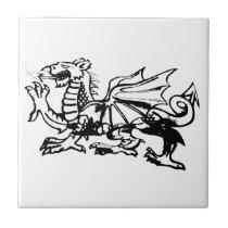 Welsh Dragon tiles