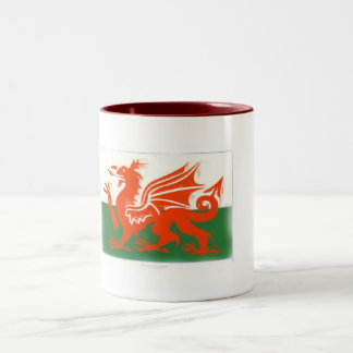 Welsh Dragon Two-Tone Coffee Mug