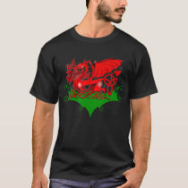 Welsh Dragon with Celtic Knotwork T-Shirt