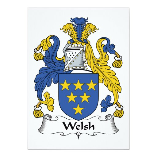Welsh Family Crest 5x7 Paper Invitation Card