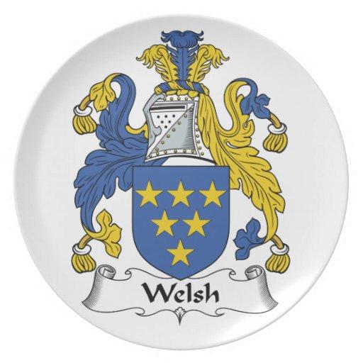 Welsh Family Crest Plate