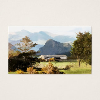 WELSH FARM AND MOUNTAIN LANDSCAPE BUSINESS CARD