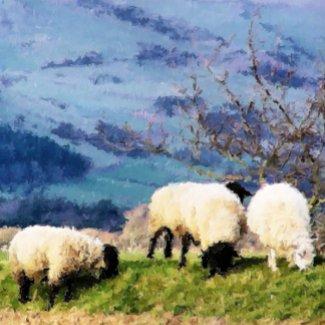 WELSH FARM GIRLS UK card