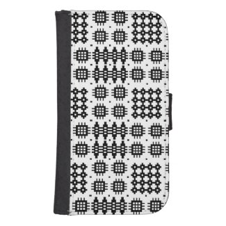 Welsh Faux Tapestry Black and White Wallet Case Phone Wallet Case
