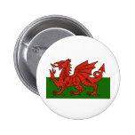 Welsh Flag 2 Inch Round Button