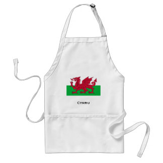 Welsh Flag Adult Apron