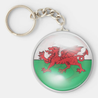 Welsh Flag Basic Round Button Keychain