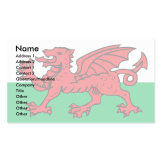 Welsh Flag Business Card Templates