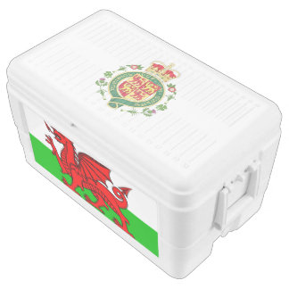 Welsh flag chest cooler