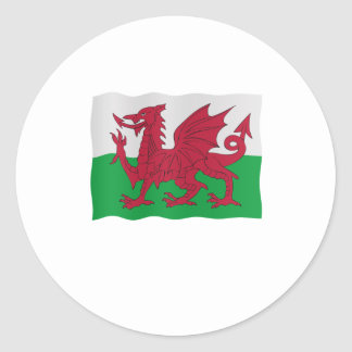 Welsh flag classic round sticker
