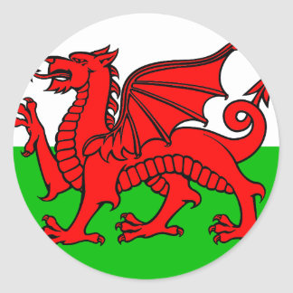 Welsh-Flag Classic Round Sticker