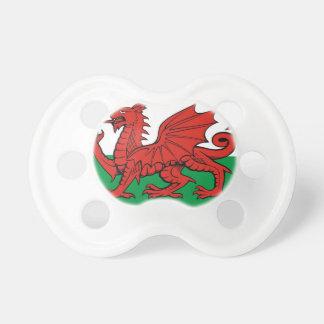 """Welsh flag, """"Cymru am byth"""",   red dragon Pacifier"""