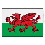 Welsh Flag Greeting Cards