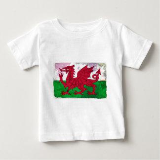 Welsh Flag Grunge Baby T-Shirt