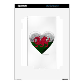 Welsh Flag Heart Collage iPad 2 Decals