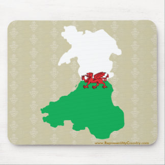 Welsh Flag Map full size Mouse Pad