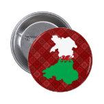 Welsh Flag Map full size Pin