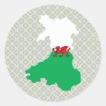Welsh Flag Map full size Sticker