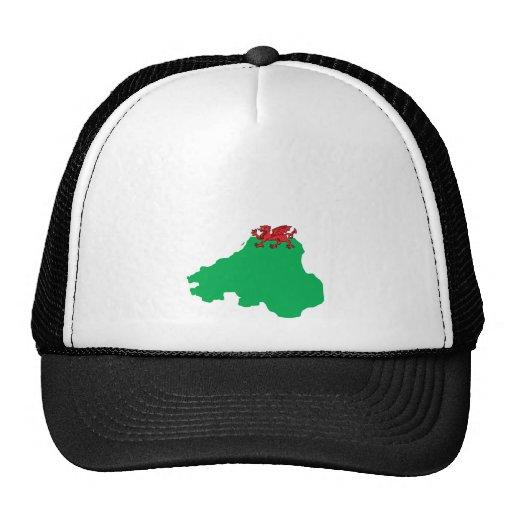 Welsh Flag Map full size Trucker Hat