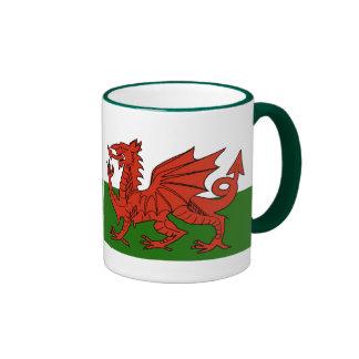 Welsh Flag Coffee Mugs