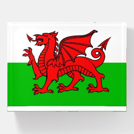 Welsh Flag Paperweight