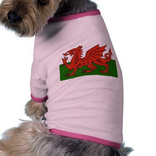 Welsh Flag Pet T Shirt