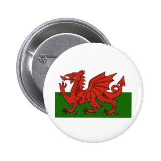 Welsh Flag Pinback Button