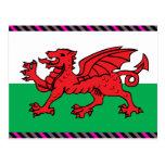 Welsh Flag Post Card