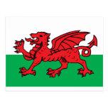 Welsh Flag Postcards