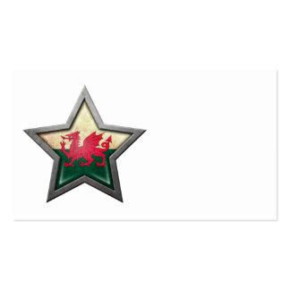 Welsh Flag Star Business Card Templates
