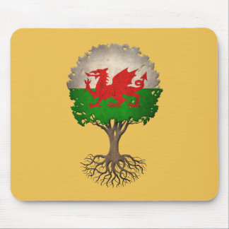 Welsh Flag Tree of Life Customizable Mouse Pad