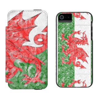 Welsh Flag Wallet Case For iPhone SE/5/5s