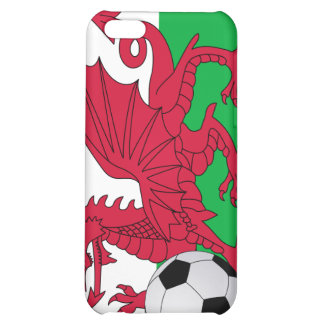 Welsh Flag with Soccer Ball  Case For iPhone 5C