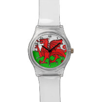 Welsh flag wristwatch