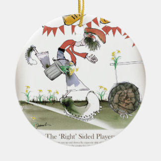 welsh football right winger ceramic ornament