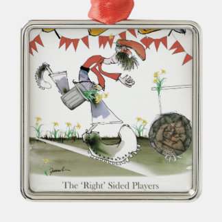 welsh football right winger metal ornament