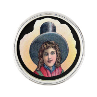 Welsh Girl Cameo Pin