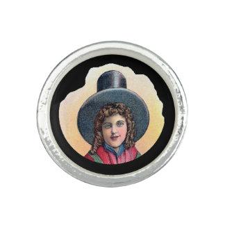 Welsh Girl Cameo Ring