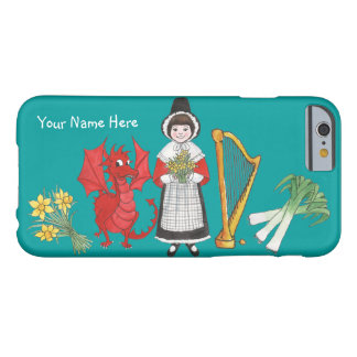 Welsh Girl, Dragon, Leeks, Daffodils, Harp Barely There iPhone 6 Case
