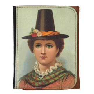Welsh Girl in Traditional Costume Wallets