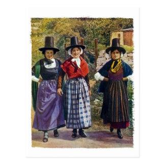Welsh Girls Postcard
