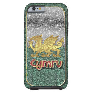 Welsh Glitter And Gold Stylish iPhone 6, Tough Tough iPhone 6 Case