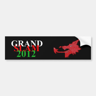 Welsh grand slam 2012 sticker